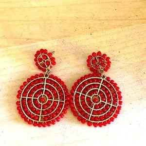 Red Beaded Earrings Express